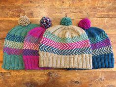 Ravelry: Wherever it Points hat pattern by Darn Knit Anyway Knitting Patterns Free, Knit Patterns, Free Knitting, Baby Knitting, Free Pattern, Knit Crochet, Crochet Hats, Mittens Pattern, Fair Isle Knitting