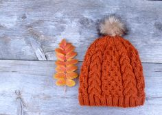 Cable and Honeycomb Knit Slouchy Beanie Hat in by beatknits