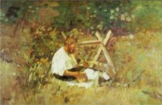 At Nami (wood cutter) - Stefan Luchian Wood Cutter, Art Database, Art Nouveau, Fine Art, Art Prints, Image, 1 Februarie, Paintings, Matisse