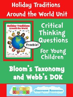Critical Thinking Questions for Holiday Traditions Around the World Units