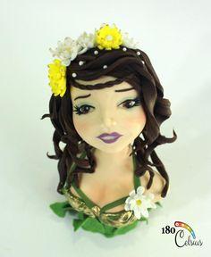 Hestia - Cake by Joonie Tan Spring Fairy, Fondant Rose, Doll Crafts, Modeling, Chinese, Pasta, Cakes, Dolls, Disney Princess