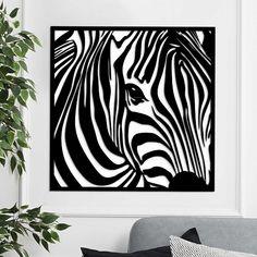 Moderný drevený obraz - Zebra | DUBLEZ Magic Art, Black Girl Magic, Animal Print Rug, Cover, Animals, Home Decor, Ideas, Septum, Beams