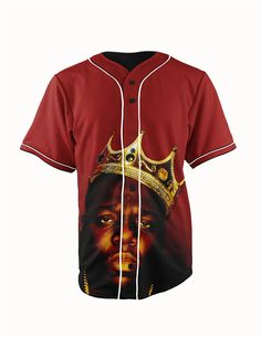 Biggie Smalls The... http://www.jakkoutthebxx.com/products/real-usa-size-biggie-smalls-king-the-notorious-b-i-g-rapper-3d-sublimation-print-custom-made-red-button-up-baseball-jersey-plus-size?utm_campaign=social_autopilot&utm_source=pin&utm_medium=pin #newclothingline #shoppingtime  #trending #ontrend #onlineshopping #weloveshopping #shoppingonline