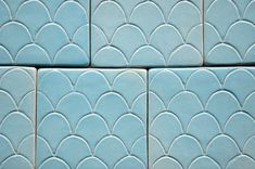 Turquoise fish scale tile.