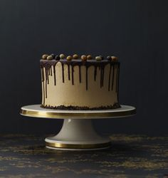 Chocolate Coffee Cake with Dark Chocolate Ganache by Matt Lewis and Renato Poliafito: With a subtle and smooth coffee flavor.