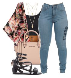 """Untitled #138"" by itsteresa ❤ liked on Polyvore featuring Topshop, Michael Kors and Forever 21"