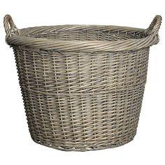 Buy John Lewis Willow Log Basket, Grey Online at johnlewis.com