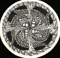 Zentangle Zendala #1 Created by C. Bishop, CZT