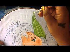 Pintura en tela niño elote # 2 con cony