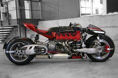 Lazareth LM847: seria uma moto com motor V8 Maserati ou um motor V8 Maserati com rodas, banco e guidão? Fica a pergunta!