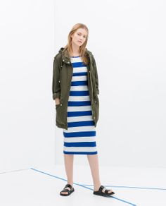 STRIPED TUBE DRESS from Zara