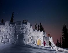Giant Snow Fort at Keystone, Colorado