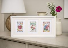 Cross stitch seed packets - add a taste of vintage garden style to your home (or make fast gifts!) with this elegant trio. The project patterns are in issue 216 of The World of Cross Stitching mag, out now!