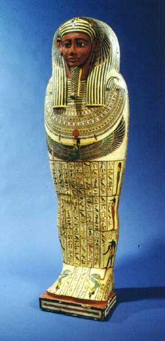 30th Dynasty Painted Wooden Mummy Case of Iret-Heru-ru