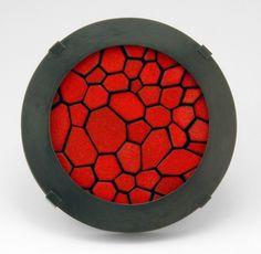 Julia Turner: Cell Slice Brooch - enamel