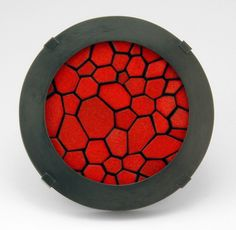 Julia Turner: Cell Slice Brooch - enamel