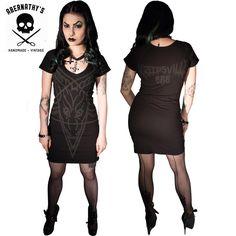 Image of Kreepsville 666 Goathead Dress in Black