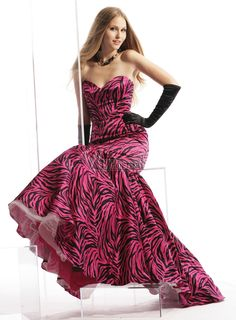 Pink Zebra Print Wedding Dresses