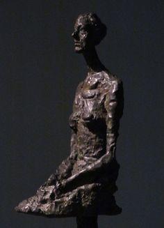 Alberto Giacometti Large Seated Woman (Annette), 1958. Bronze (1901-1966) LACMA