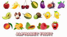 Learn ABC Alphabet with FRUITs for children in english - How to read abc...