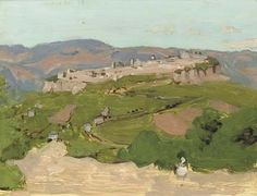View Orvieto (1967) By Fairfield Porter; oil on masonite; 14 x 18 in. (35.6 x 45.7 cm.); Signed; . Access more artwork lots and estimated & realized auction prices on MutualArt. Contemporary Landscape, Abstract Landscape, Landscape Paintings, Landscapes, Fairfield Porter, Travel Sketchbook, Architecture Art Design, Impressionist Paintings, Art World