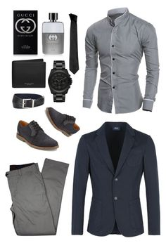 """""""Untitled #185"""" by roxana20 on Polyvore featuring Armani Jeans, Lords of Harlech, G.H. Bass & Co., Michael Kors, Prada, Versace, Gucci, men's fashion and menswear"""
