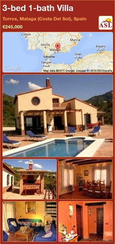 3-bed 1-bath Villa in Torrox, Malaga (Costa Del Sol), Spain ►€245,000 #PropertyForSaleInSpain