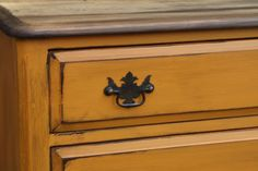 Primitive & Proper: Rustic Orange Dresser