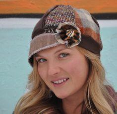 upcycled hat on etsy