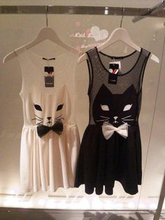 Cat Dress! I'd probably do it without the sheer top. (Via Black Cat Boutique)