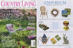 BOUND's Miniature Journals featured in Country Living's April Emporium with oodles of great Spring gift ideas.     (Image copyright Country Living magazine.)