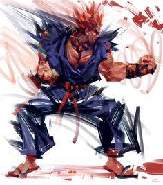 Gouki - Street Fighter by mr. Akuma Street Fighter, Street Fighter Alpha 3, Super Street Fighter, Cr7 Messi, Character Art, Character Design, Street Fighter Characters, World Of Warriors, Deadpool