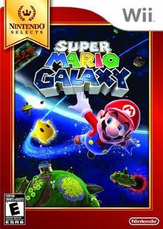 Super Mario Galaxy (Nintendo Selects): http://www.amazon.com/Super-Mario-Galaxy-Nintendo-Selects-Wii/dp/B005FYJA52/?tag=virtualwhis06-20