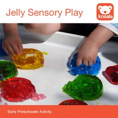 Jelly Sensory Play #Knoala #KidsActivities *Messy fun!