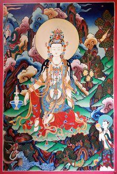 Guanyin Thangka Painting Asian Art @ TraditionalArtofNepal.com