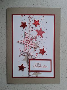 9 More Easy Homemade Christmas Cards with Step by Step Instructions – DIY Theory Homemade Christmas Cards, Christmas Cards To Make, Homemade Cards, Handmade Christmas, Holiday Cards, Christmas Crafts, Recycled Christmas Cards, Noel Christmas, Navidad Simple