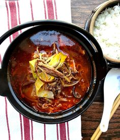 The Momou Cookbook S Kimchi Stew With Rice Cakes Recipe Kimchi Momou And Stew