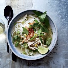 Pho This best-ever Vietnamese chicken soup with rice noodles is deeply flavorful and fragrant. Get the recipe from Food & Wine.This best-ever Vietnamese chicken soup with rice noodles is deeply flavorful and fragrant. Get the recipe from Food & Wine. Vietnamese Chicken Soup, Chicken Pho, Chicken Rice Soup, Chicken Soup Recipes, Chicken Noodles, Italian Chicken, Chicken Wings, Wine Recipes, Asian Recipes