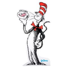 Dr. Seuss Cat in the Hat Cardboard Standup 6' 2""
