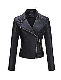 Bellivera Womens Faux Leather Short Jacket, Moto Coat for Spring Autumn and Winter Leather Shorts, Leather Jackets, Coats For Women, Clothes For Women, Motorcycle Style, Collar Styles, Timeless Fashion, Fashion Boutique, Autumn