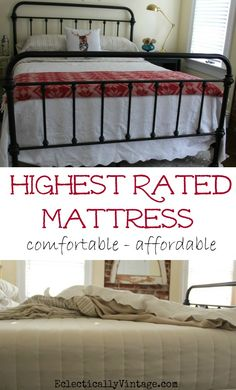 Top Rated Mattress is comfortable and affordable! eclecticallyvintage.com