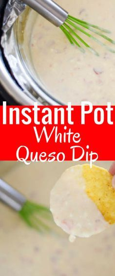 Instant Pot White Queso / Instant Pot Dip / Instant Pot Cheese Sauce / Instant Pot Recipes / Instant Pot / Instant Pot Recipe via @clarkscondensed