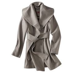 Target Mobile Site - Merona® Wool Coat with Shawl Collar and Belt -Assorted Colors a lot like that $1300 coat I posted earlier, but a steal at $60!!!!   I tried it on earlier today and loved it!