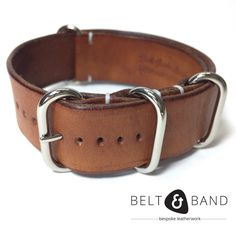 Watch Straps, Handmade Leather, Solid Brass, Calves, Belt, Luxury, Brown, Accessories, Fashion