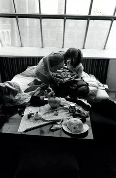 Breakfast after the carnaval. Berlin, 1960  photo: Will McBride