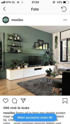 para a sala de estar - # for - Einrichtungsideen Zimmereinrichtung - Decoração Ideias Living Room Green, Home Living Room, Interior Design Living Room, Living Room Designs, Living Room Decor, Dining Room, Living Room Inspiration, House Design, Home Decor
