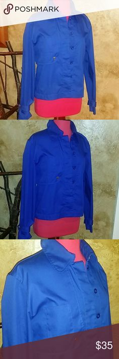 RETRO COBALT BLUE JACKET Very cool! Has an 80's vibe to it! Vibrant color! Statement piece! Fun details! Lots of compliments! Like new condition! Size 10. Will fit Sm/Med. Note: First pic is what this jacket looks like modeled from ASOS. ASOS Jackets & Coats