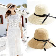wholesale Straw Cap for Women Girls Wide Large Brim Summer Beach Sun hat Travel #Unbranded