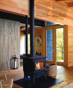 wood burning stove - have one just like this one in our back room.  I love the feel of wood heat.