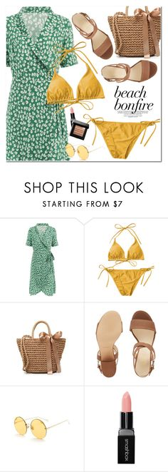 """Beach Bonfire"" by oshint ❤ liked on Polyvore featuring Nine West, Smashbox and Bobbi Brown Cosmetics"
